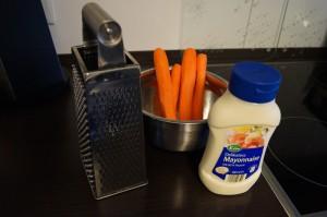 Zutaten für Karottensalat