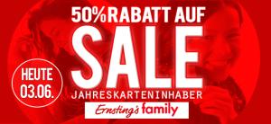 50% Rabatt bei Ernstings Family Heute