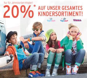 Super Mittwoch bei Ernstings Family - 20% Rabatt für Jahreskarten Inhaber
