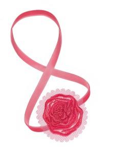 Haarband pink essence bloom me up