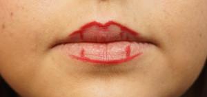 Lippenkonturen zeichnen 2