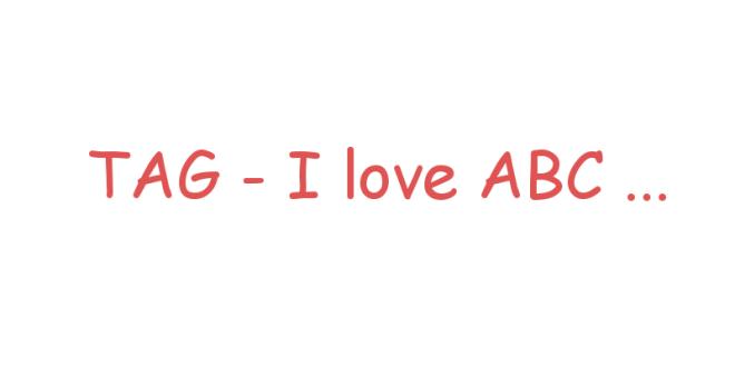 tag i love abc