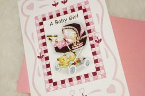 """Grusskarte """"A Baby Girl"""""""