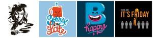 Farbenfrohe Auswahl der Fun Motive im Likoli-Shop