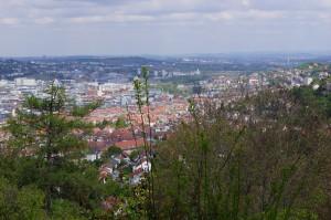 Der Blick über Stuttgart von oben