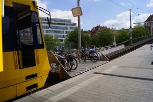 """Fahrradabteil der Zahnradbahn """"Die Zacke"""""""