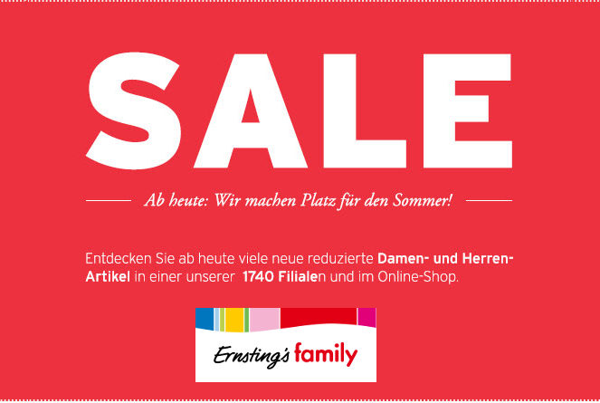 Ernstings Family Sale - 70%