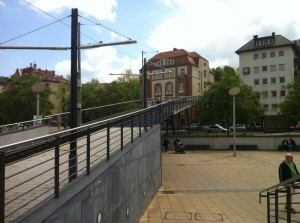 Zahnradbahn auf dem Marienplatz
