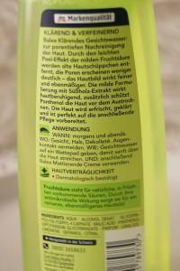 Balea Gesichtswasse mit Fruchtsäure Anleitung