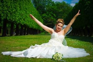 Braut im Park Schloss Benrath Düsseldorf