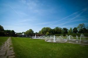 Düsseldorf Nordpark Wasserbecken mit Fontäne
