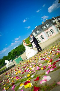 Rosenregen Hochzeit Schloss Benrath daydiva