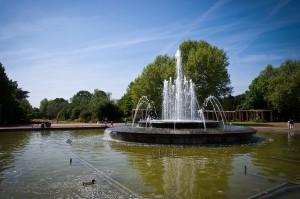 Springbrunnen im Nordpark Düsseldorf