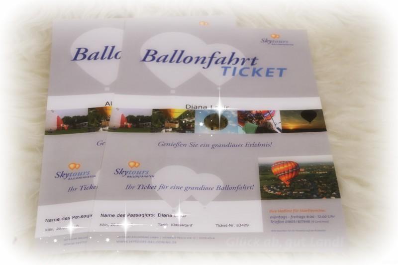Gutscheine für Ballonfahrt