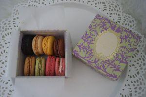 Macarons in der Verpackung