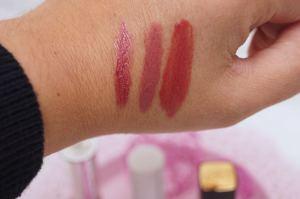 Herbst Lippenstifte Swatch