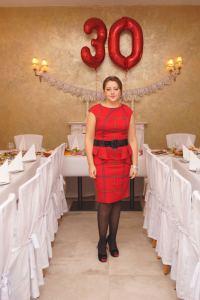Geburtstagsoutfit rotes Kleid