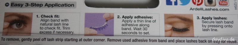 Anleitung zum ankleben von Ardell False Lashes
