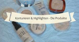 Produkte zum Konturieren und Highlighten