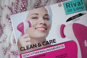 clean&care Gesichtsreinigungsbürste  von Rival de Loop blogger edition