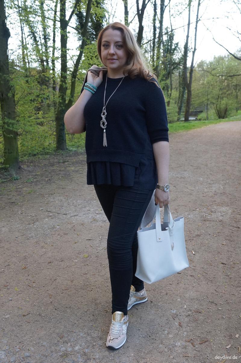 Knitwear Cos, Jeans H&M, Tasche Furla, neue Sneakers Sacha
