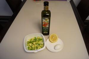 Benötigte Zutaten für meine Avocado Creme