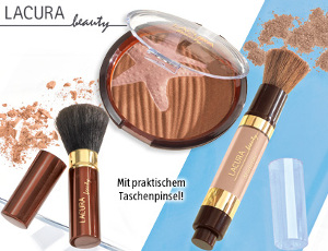 lacura beauty shimmer powder brush oder bronzing powder set