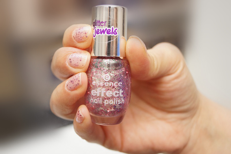essence effect nail polish glitter jewels