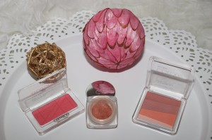 rechts nach links: Catrice Multicolour Blush, Dior Pro Cheeks Blush, Catrice Defining Blush