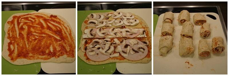 Pizzateig belegen nach Belieben