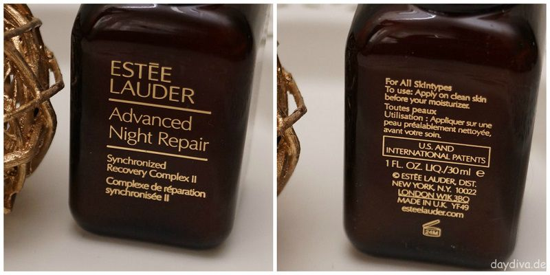 Vor und Rückseite Estee Lauder Advanced Night Repair Serum