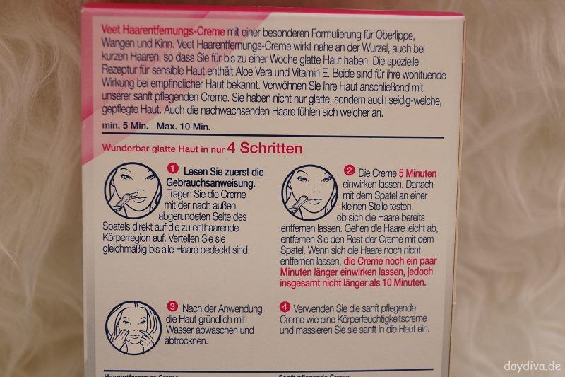 Anleitung Veet Haarentfernungs Creme Set Gesicht
