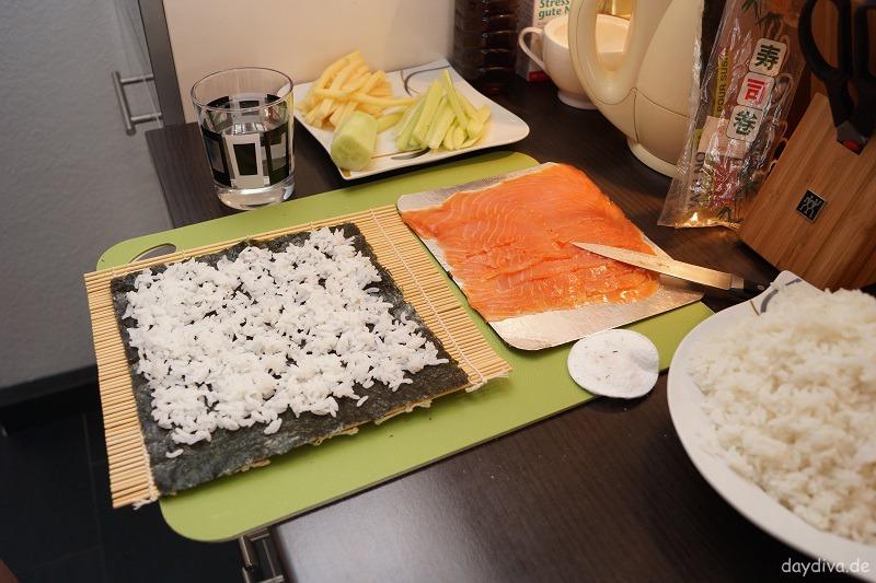 Zubereitung von Sushi