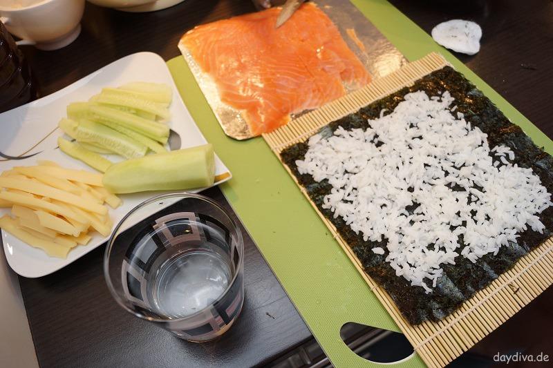 Zutaten für Sushizubereitung