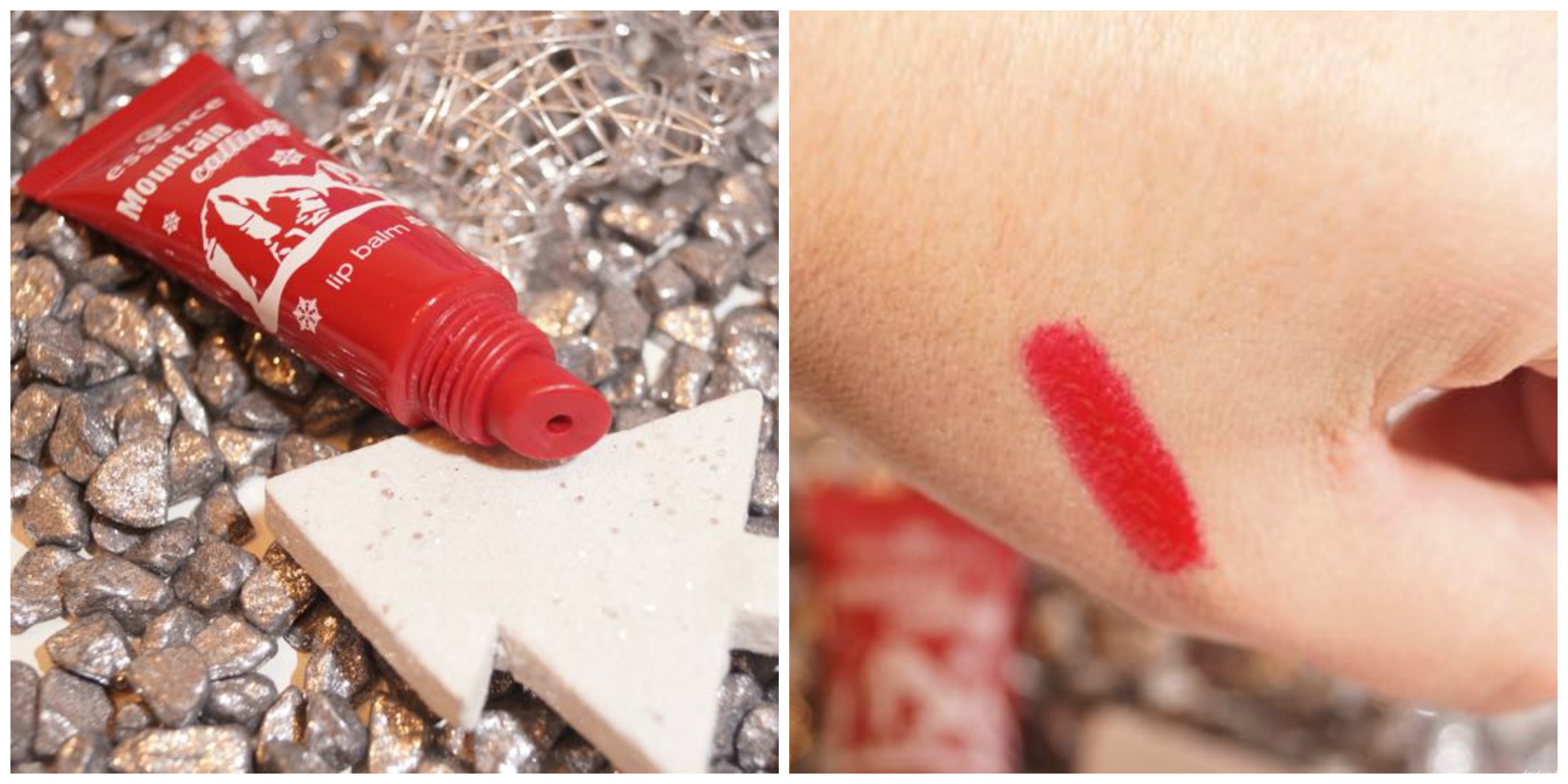 essence lip balm swatch
