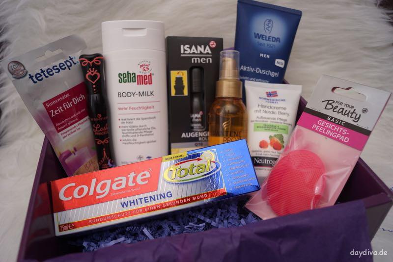 Produkte der Rossmann Weihnachtsbox