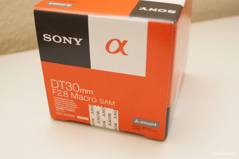 Verpackung Sony DT30mm F2.8 Macro SAM SAL30M28