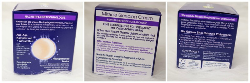 Miracle Sleeping Cream Technologie