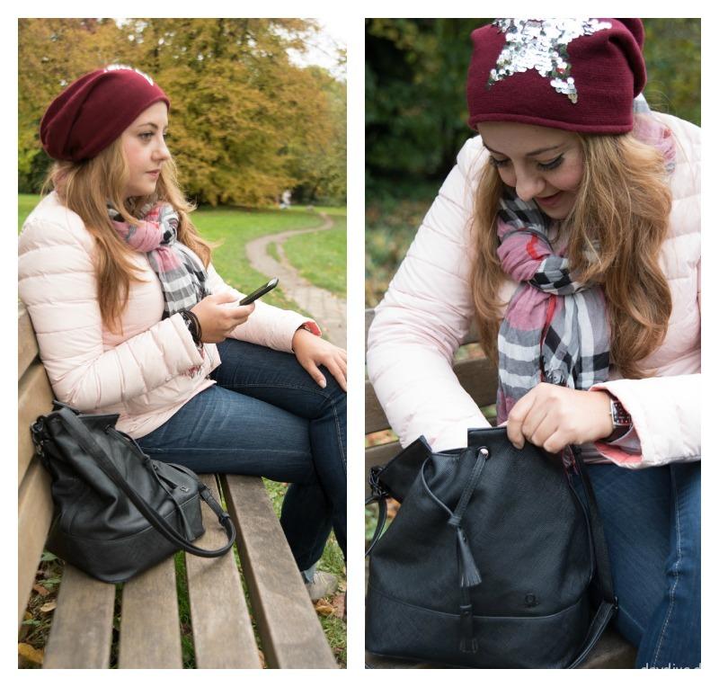 Herbst Steppjacke und Jeans