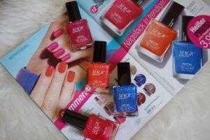 Auswahl Sommerfarben Avon Nagellack