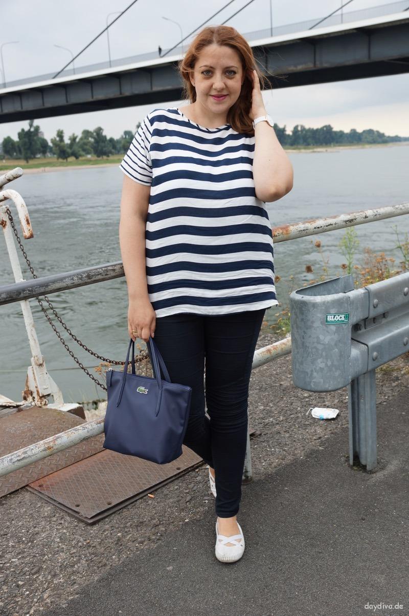 Mein Maritim Look am Rhein